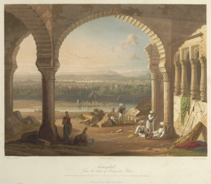 Sepoys loyal to the Mughal Emperor Aurangzeb maintain their positions around the palace, at Aurangabad, in 1658