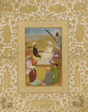 Dara Shikoh (with Mian Mir and Mullah Shah Badakhshi), ca. 1635