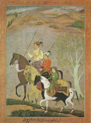 A painting from circa 1637 shows the brothers (left to right) Shah Shuja, Aurangzeb and Murad Baksh in their younger years.